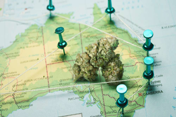 australia cannabis map