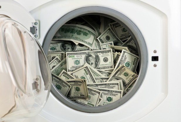 money laundering washing machine