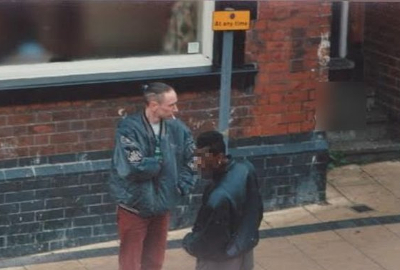 A police surveillance photo of Neil Woods while undercover in Derby, around 1996